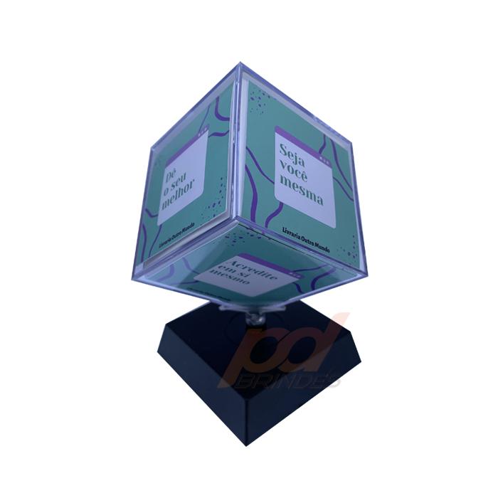Foto Cubo Giratório 6,2 cm Personalizado - 20 Unidades