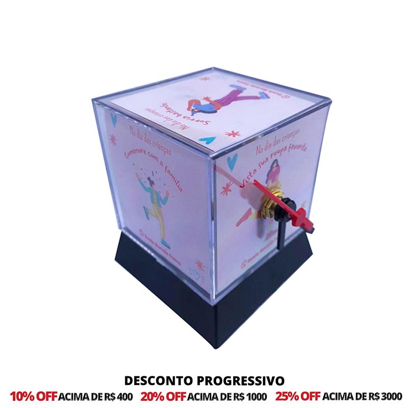 Foto cubo Relógio 6,2 cm Personalizado - Kit 20 Unidades