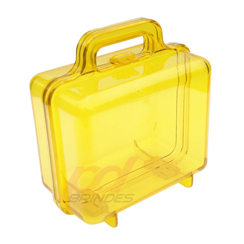 Maleta acrílica Amarela - Kit 09 peças