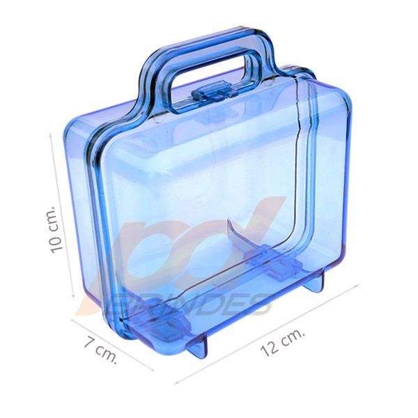 Maleta acrílica Azul - Kit 09 peças