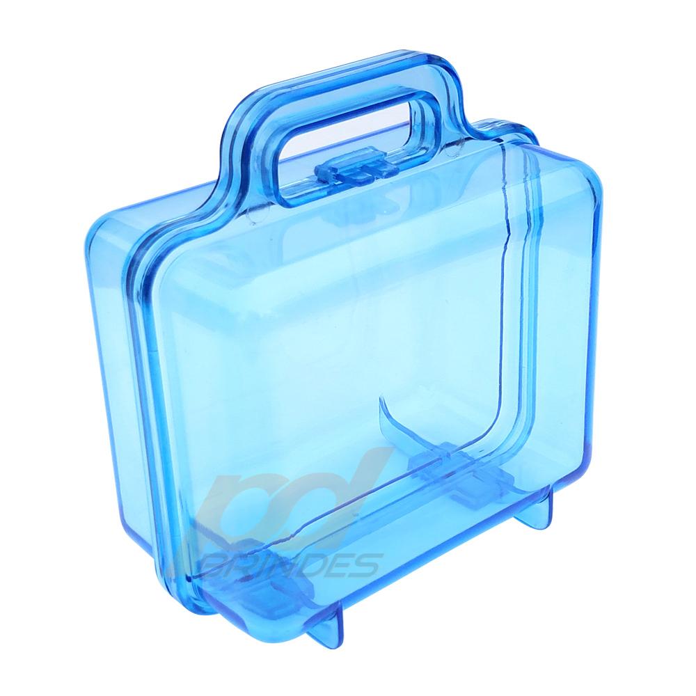 Maleta Acrílica Azul - Kit 18 peças