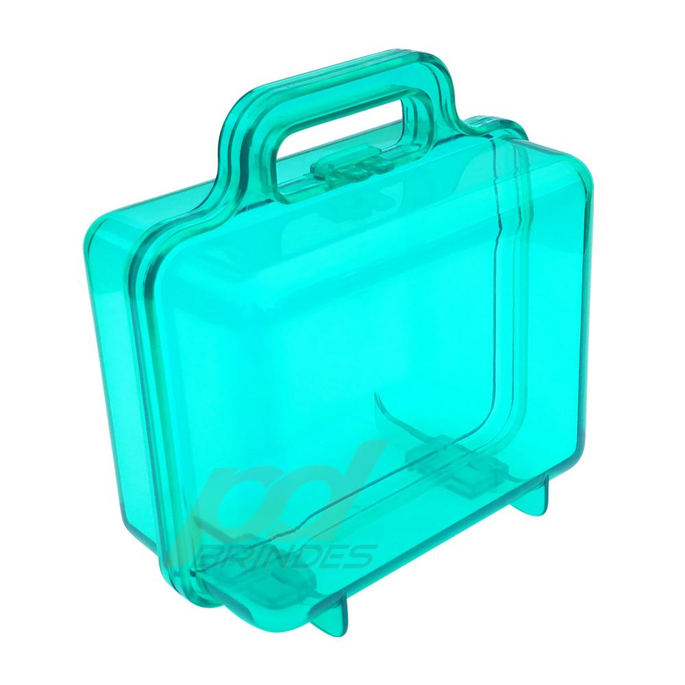 Maleta acrilica Verde - Kit 09 peças