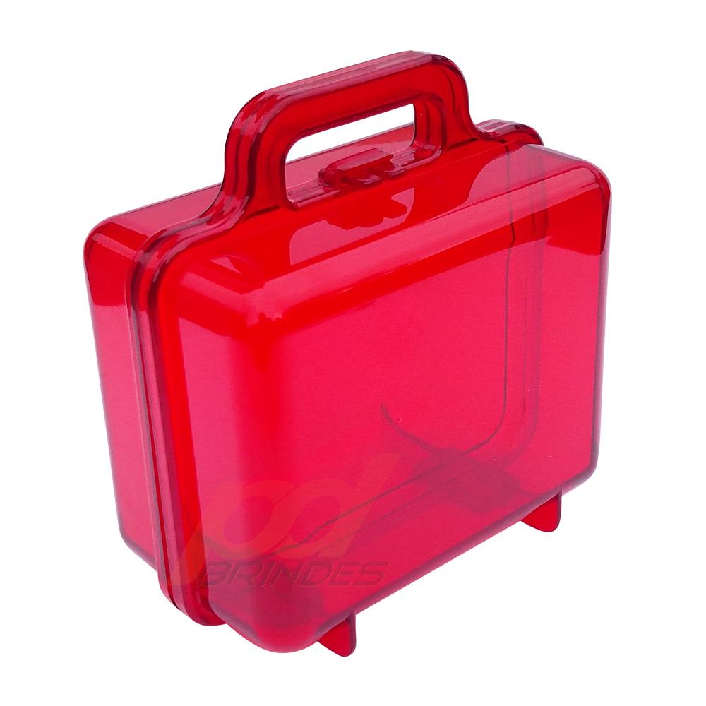 Maleta Acrílica Vermelha - Kit 09 peças