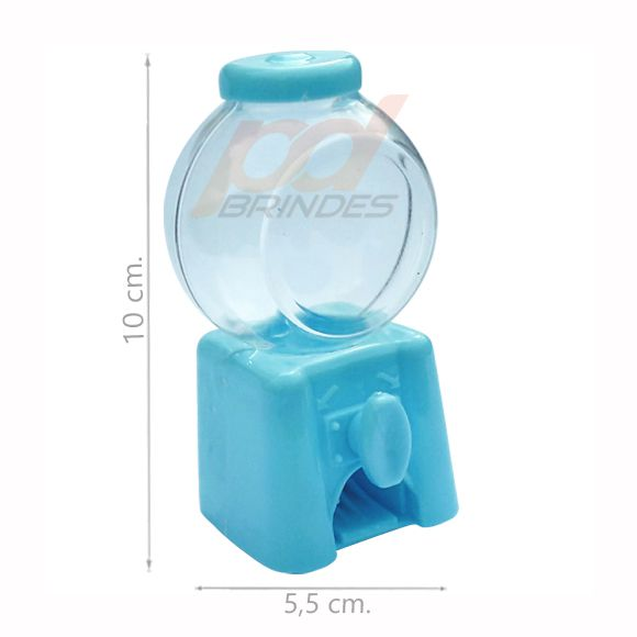 Mini Baleiro Candy Machine Azul - Kit 24 peças