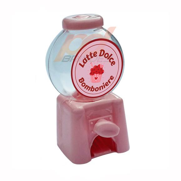 Mini Baleiro Candy Machine Personalizado - 24 Unidades