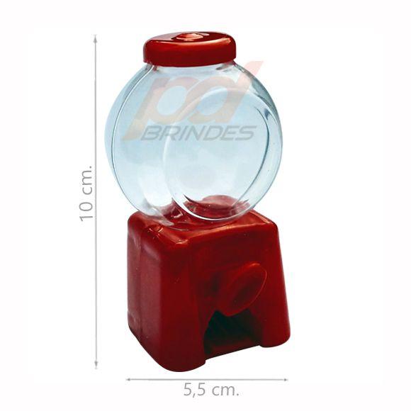 Mini Baleiro Candy Machine Vermelho - Kit 06 peças