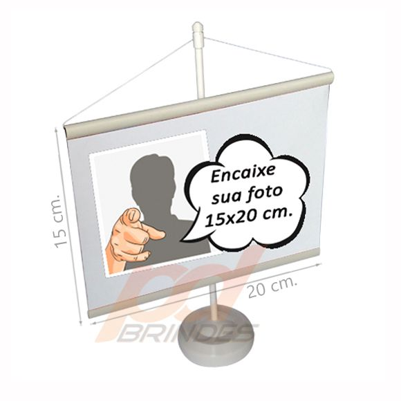 Mini banner Branco 15x20  Kit 010 peças