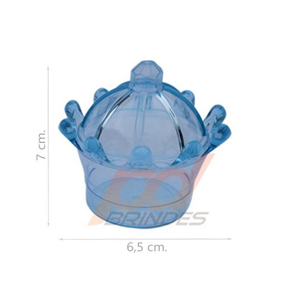 Mini Coroa Azul - Kit 010 peças