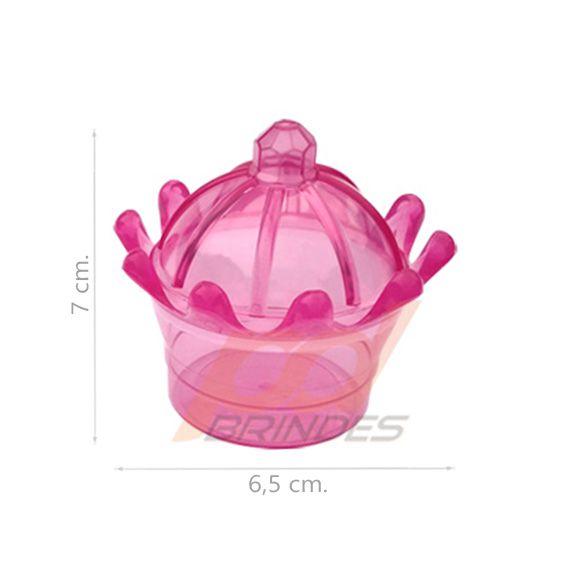 Mini Coroa Rosa - Kit 100 peças
