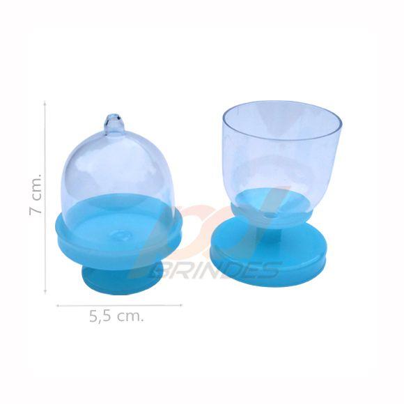 Mini Cúpula e Taça 2 em 1 Azul - Kit 100 peças