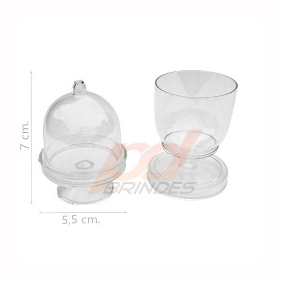 Mini Cúpula e Taça 2 em 1 Cristal - Kit 10 peças