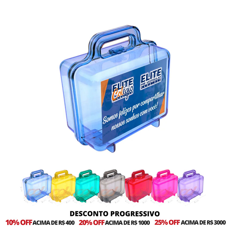 Mini Maletinha Acrílica Personalizada - 50 Unidades