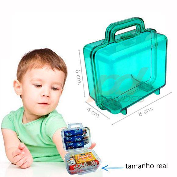 Mini Maletinha acrílica Verde - Kit 100 peças