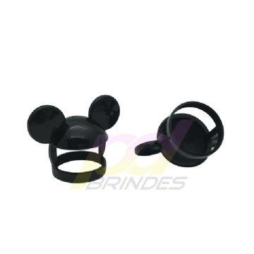 Orelha Mickey p/ Tampa de garrafas e tubetes - Kit 25 Unidades