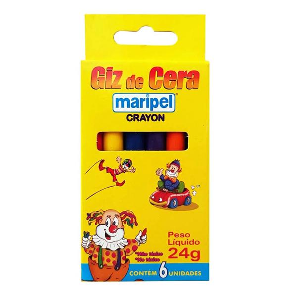 Para Colorir - Giz de cera - Kit 12 caixas
