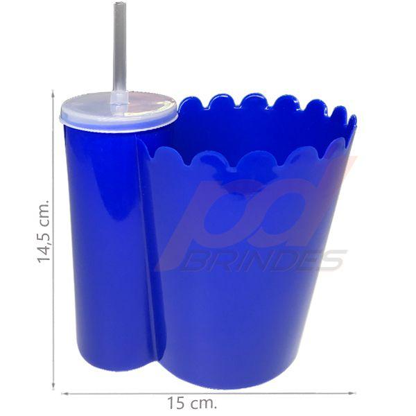 Pipofri - Balde De Pipoca C/ Copo Azul - 50 peças