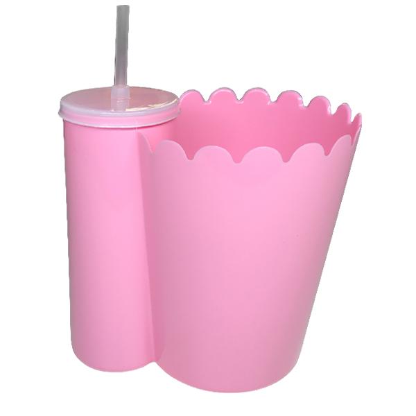 Pipofri - Balde De Pipoca C/ Copo Rosa - 1 Un