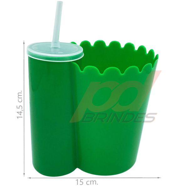 Pipofri - Balde De Pipoca C/ Copo Verde - 12 peças