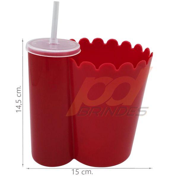 Pipofri - Balde De Pipoca C/ Copo Vermelha - 02 peças