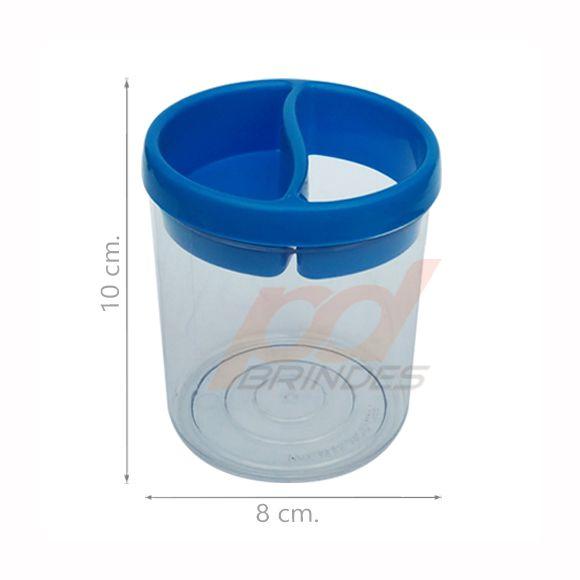 Porta Lápis de Acrílico Azul - 010 peças