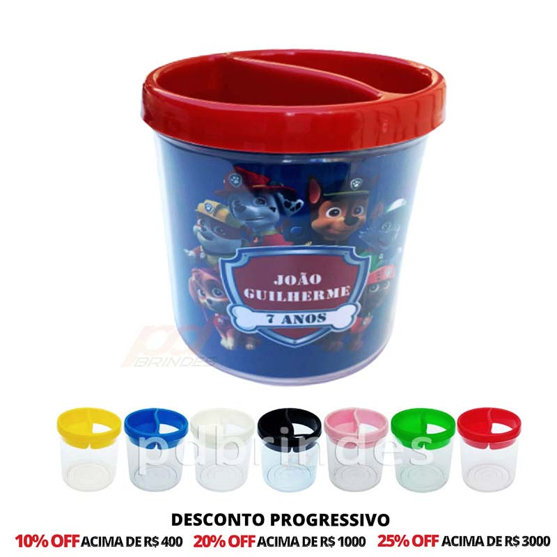 Porta Lápis de Acrílico Personalizado - 50 Unidades