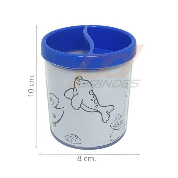 Porta Lapis para colorir Azul - Kit 010 peças