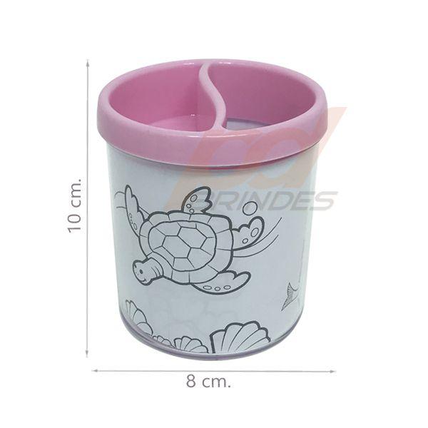Porta Lapis para colorir Rosa - Kit 100 peças