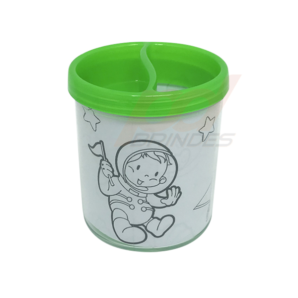 Porta Lapis para colorir Verde - Kit 010 peças