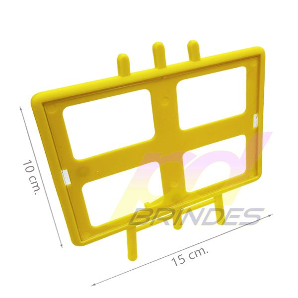 Porta retrato Cavalete Horizontal Amarelo - Kit 100 peças