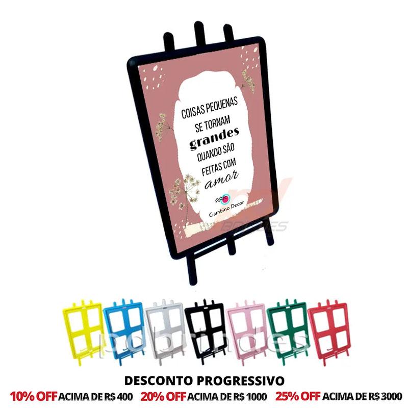 Porta Retrato Cavalete Vertical Personalizado - 50 Unidades