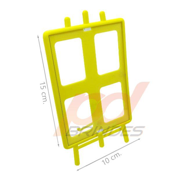 Porta retrato Cavalete vertical Amarelo - Kit 100 peças
