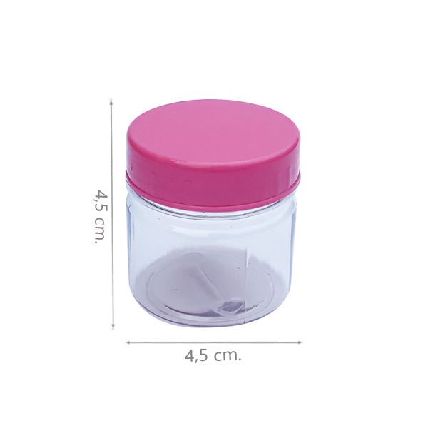 Potinho para Doce Rosa 40ml - Kit 060 peças
