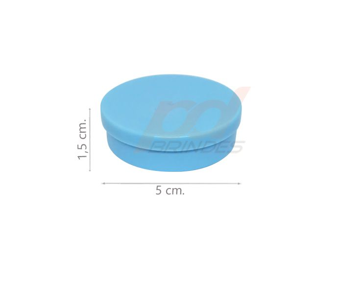 Potinho Plástico 5x1,5 cm. Azul - Kit 050 peças