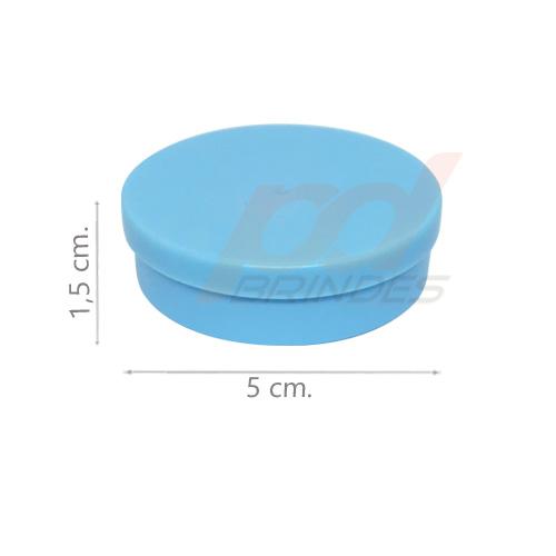Potinho Plástico 5x1,5 cm. Azul - Kit 200 peças
