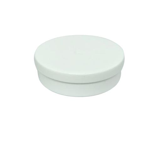 Potinho Plástico 5x1,5 cm. Branco - Kit 050 peças