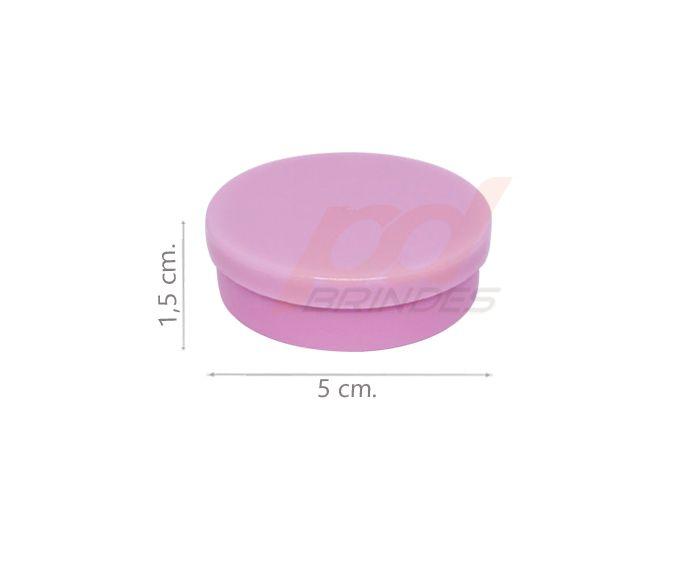 Potinho Plástico 5x1,5 cm. Rosa - Kit 050 peças