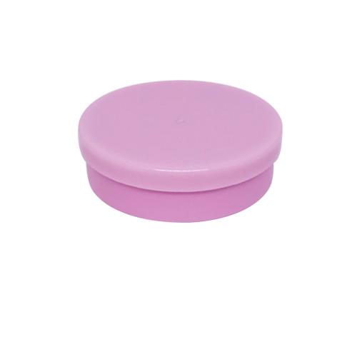 Potinho Plástico 5x1,5 cm. Rosa - Kit 200 peças
