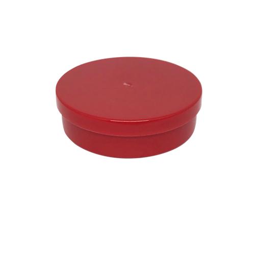 Potinho Plástico 5x1,5 cm. Vermelho - Kit 050 peças