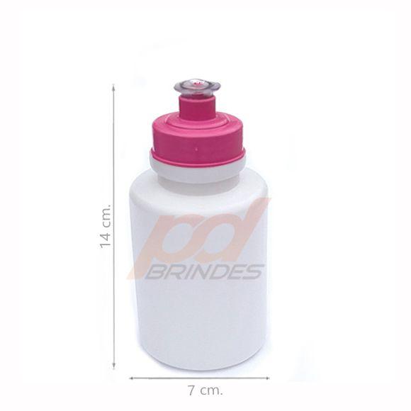 Squeeze 350 ml. tampa Rosa - Kit 10 peças