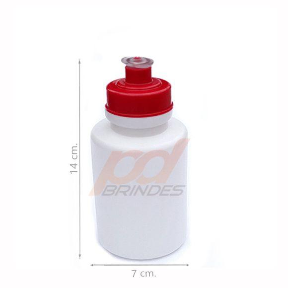 Squeeze 350 ml. tampa Vermelha - Kit 10 peças