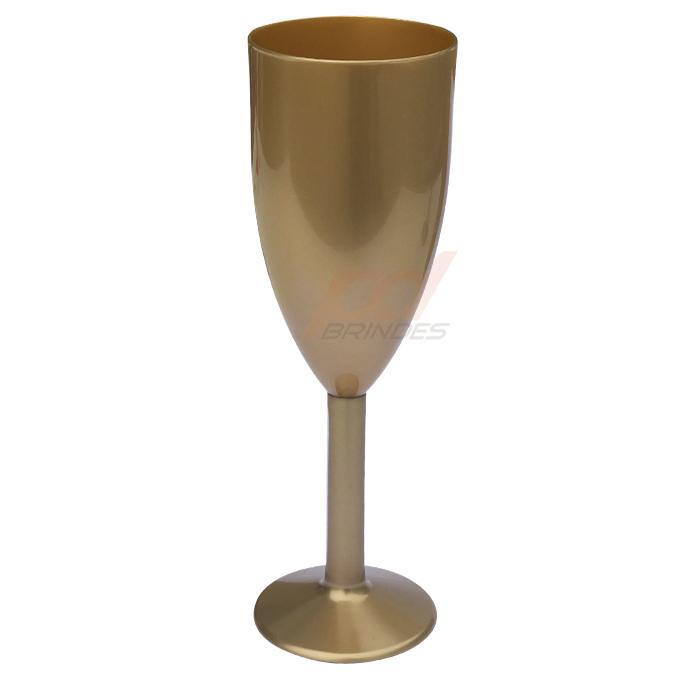 Taça Acrílico Dourado - Kit 010 Unidades