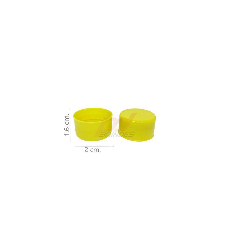 Tampas para Garrafinhas Amarela - Kit 050 peças