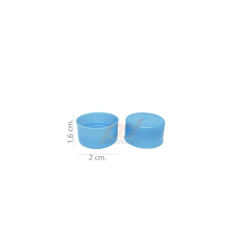 Tampas para Garrafinhas Azul - Kit 50 peças