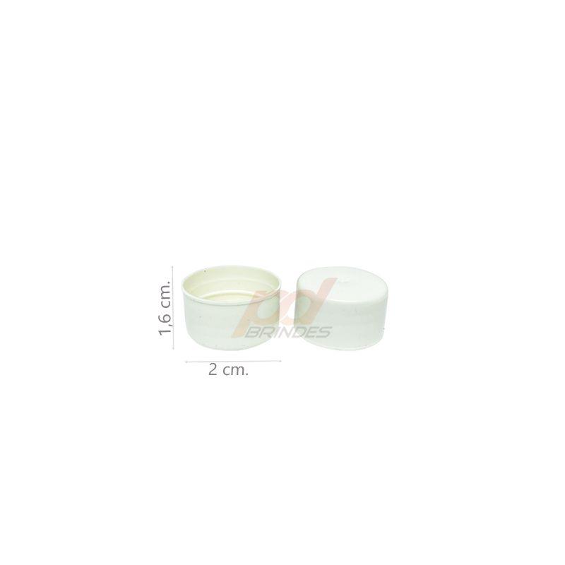 Tampas para Garrafinhas Branca- Kit 200 peças