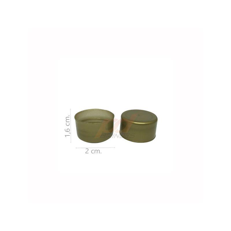Tampas para Garrafinhas Dourado - Kit 50 peças