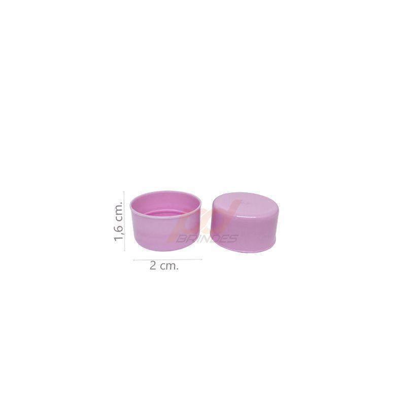 Tampas para Garrafinhas Rosa - Kit 50 peças