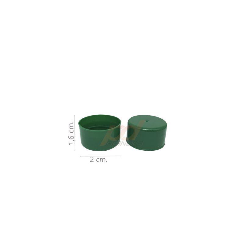 Tampas para Garrafinhas Verde - Kit 50 peças