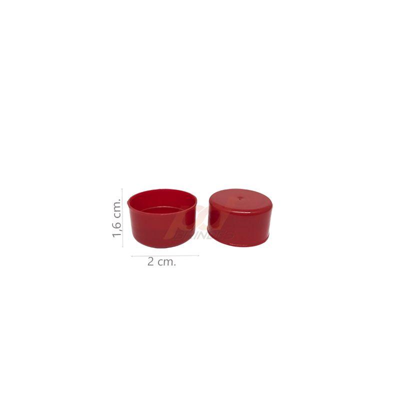 Tampas para Garrafinhas Vermelho - Kit 50 peças