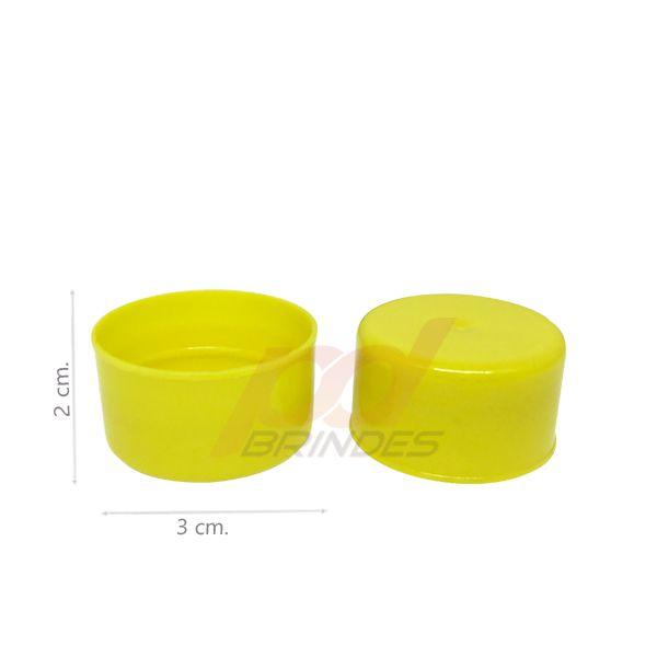Tampas para Tubete e Garrafas Amarela - Kit 200 peças