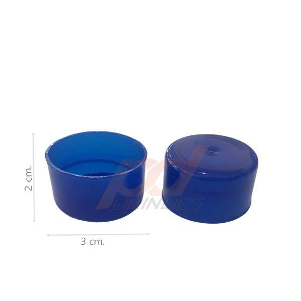 Tampas para Tubete e Garrafas Azul Escuro - Kit 1000 peças